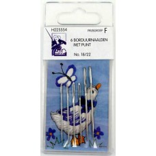 Embroidery needles without point 6 pieces No 18-22