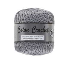 Lammy Yarns Coton Crochet 10 Silver Grey
